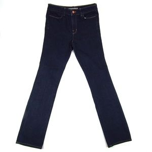 J Band Straight Leg Dark Wash Mid Rise Womens